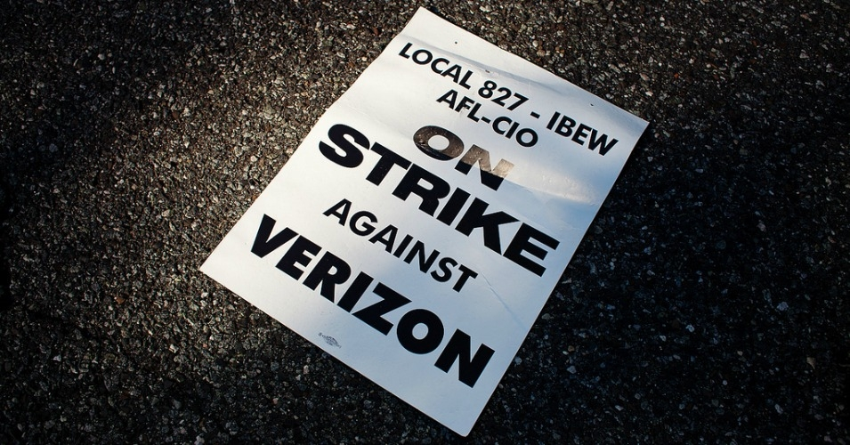 """Verizon wants to force through changes that would make it easier to uproot workers and hurt our communities,"" said Betsy Derr, a customer service representative and CWA member in Bloomsburg, Pennsylvania, who's worked at Verizon for over 16 years. (Photo: Matthew Bednarik/flickr/cc)"