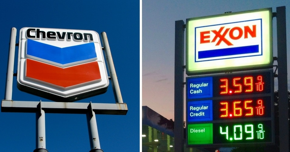 Chevron and Exxon have opposed environmental resolutions in the past. (Photo: Roo Reynolds/flickr/cc + Mike Mozart/flickr/cc)