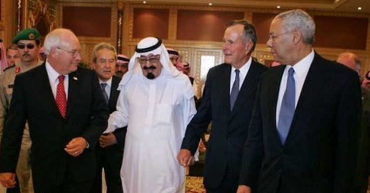 The Bush Administration hanging out with a Saudi King.