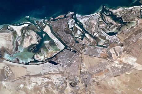 Astronaut photo of Abu Dhabi on the Persian Gulf, taken from the International Space Station, 2011. Photo: NASA via Wikimedia Commons
