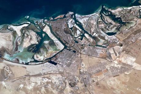 Astronaut photo of Abu Dhabi on the Persian Gulf, taken from the International Space Station, 2011. Photo: NASA via Wikimedia Commons