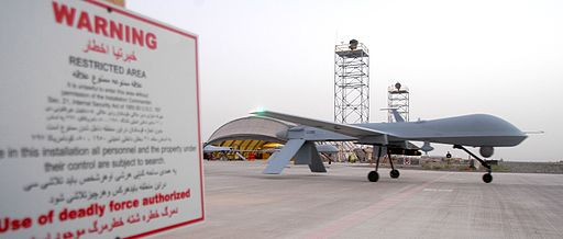 An MQ-1 Predator at Kandahar Airfield, Afghanistan. Photo: Maj. David Kurle [Public domain], via Wikimedia Commons