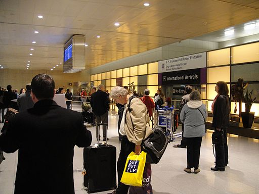 The International Arrivals Hall at Boston Logan International Airport's Terminal E. Photi: hildgrim/flickr/CC