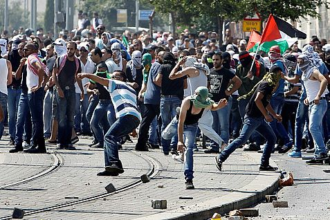 Palestinian teens protesting the murder of Mohammed Abu Khdeir. Photo: Flash 90