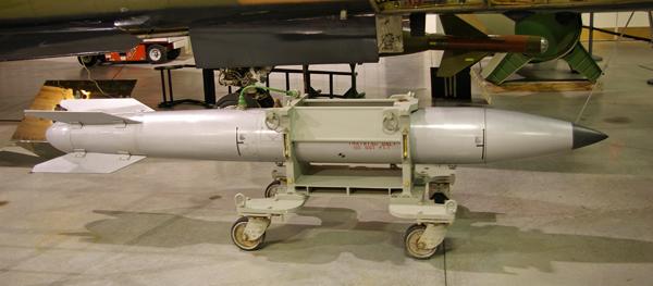 A US B-61 nuclear bomb