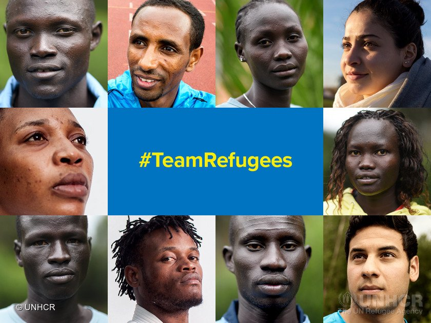 Photo: @ TeamRefugees/Twitter