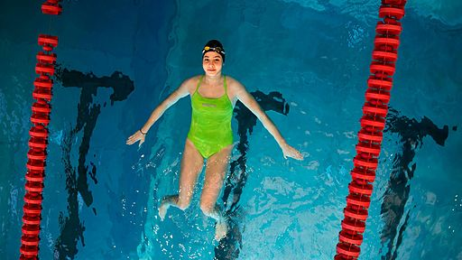 Yusra Mardini, a Syrian swimmer on the Refugee Olympic Team.. Photo via Wikimedia commons