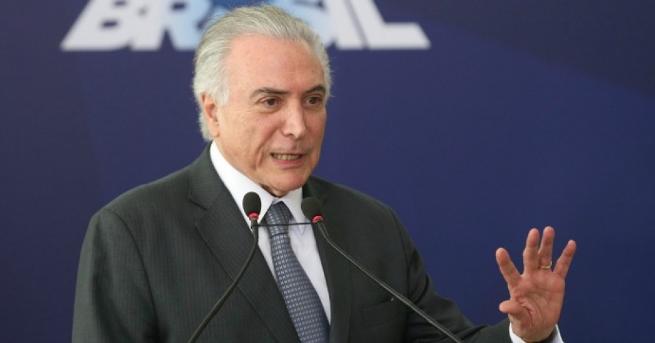 Newly-installed Brazilian President Michel Temer speaking this week. (Photo: Agência Brasil Fotografias/flickr/cc)