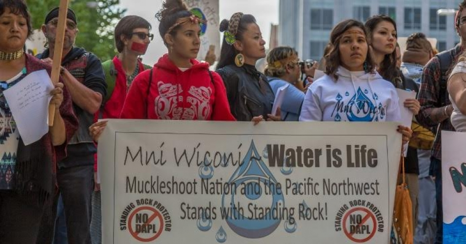 """What the Standing Rock Sioux are going through is just one example of a systemic and historical truth around how extractive and polluting infrastructure is forced upon Native communities,"" said James Powell, former president and director of the Los Angeles County Natural History Museum and former president of the Franklin Museum of Science. (Photo: John Duffy/flickr/cc)"