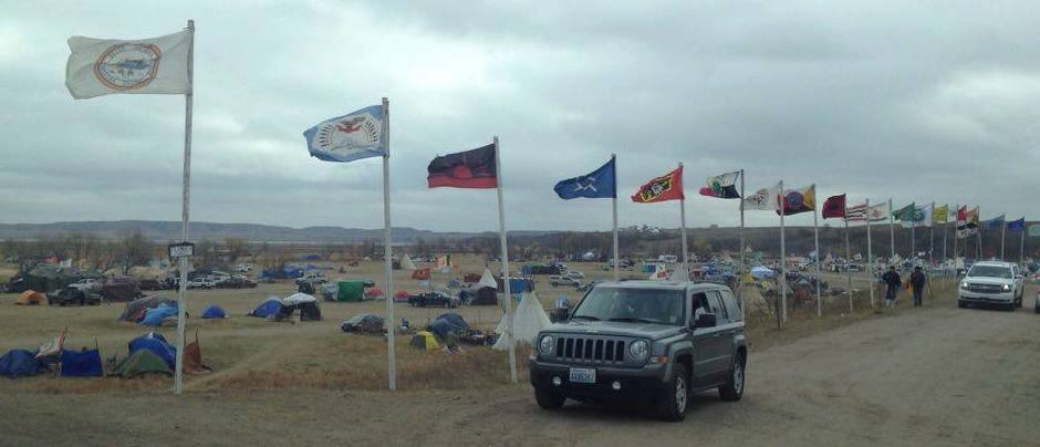 Sacred Stone Camp Flags of Nations, North Dakota