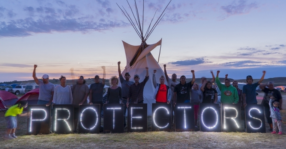 The water protectors have been battling the pipeline construction for months. (Photo: Joe Brusky/Overpass Light Brigade/flickr/cc)